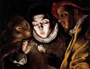 An Allegory with a Boy Lighting a Candle in the Company of an Ape and a Fool (Fábula)