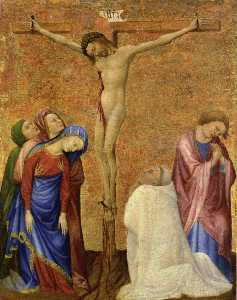 Christ on the Cross with a Praying Carthusian Monk
