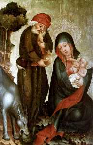 Rest on the Flight to Egypt, panel from Grabow Altarpiece