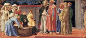 Sts Justus and Clement Multiplying the Grain of Volterra