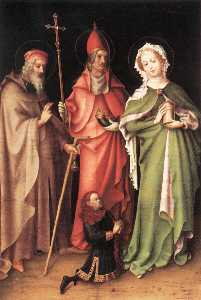 Sts Anthony the Hermit, Cornelius and Mary Magdalen with a Donor