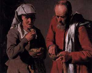 Peasant Couple Eating
