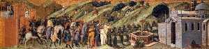 Predella pannello : st albert Regali la regola al Carmelitani