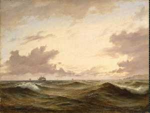 Seascape - Anton Melbye (Daniel Herman Anton Melbye)