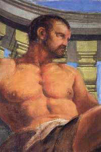 Omphale Punishing Hercules (detail)