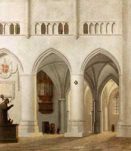 Interior of the Sint-Bavokerk at Haarlem