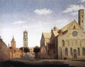 St Mary's Square and St Mary's Church at Utrecht