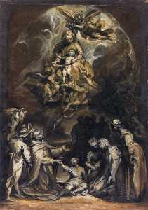 St Hyacinthus Raising a Drowned Child