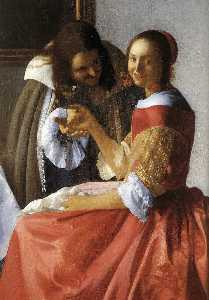 A Lady and Two Gentlemen (detail)