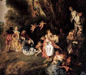 Pilgrimage to Cythera (detail)