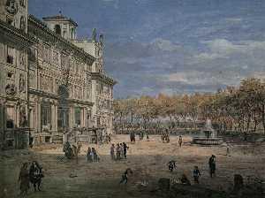 The Villa Medici and Garden in Rome