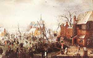 Winter Scene at Yselmuiden