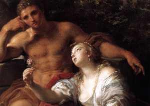 Hércules en la encrucijada Detalle