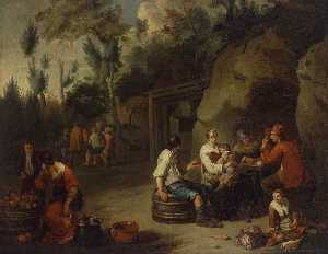 Peasant Family Sitting at a Table