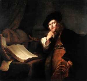 A Scholar at His Desk