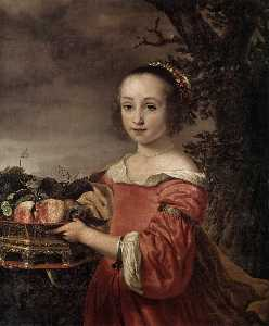 Petronella Elias with a Basket of Fruit