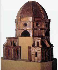 Wood model for the dome