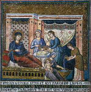 Apsidal arch: 1. Nativity of the Virgin