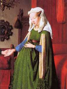 Portrait of Giovanni Arnolfini and his Wife (detail) (12)