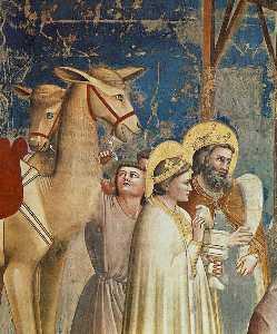 No . 18 scene dal vita di cristo : 2 . adorazione dei magi ( particolare )