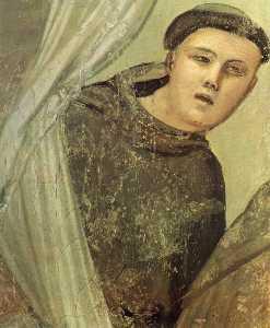 Scene da vita di san francesco : 7 . visione dell ascensione di san francesco ( particolare )