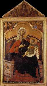Virgin and Christ Child Enthroned