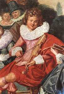 Amusing Party in the Open Air (detail)