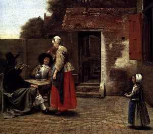 A Dutch Courtyard (detail)
