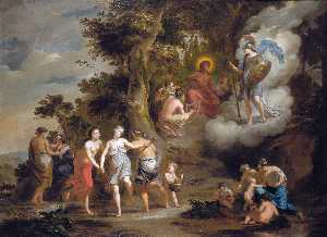 Pallas Athene Visiting Apollo on the Parnassus