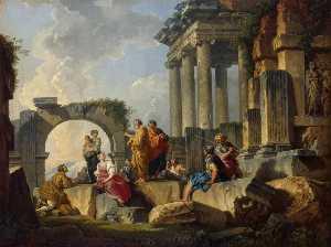 Apostle Paul Preaching on the Ruins