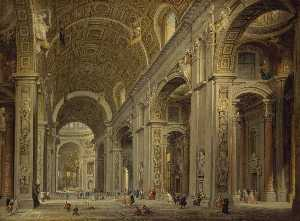 Interior of St Peter's in Rome