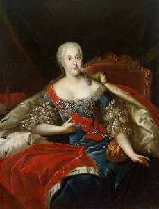 Portrait of Johanna Elisabeth, Princess of Anhalt-Zerbst