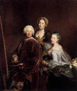 Self-Portrait with Daughters