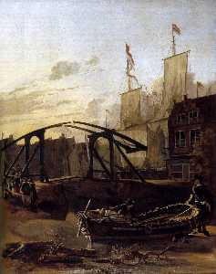 View of a Harbour in Schiedam
