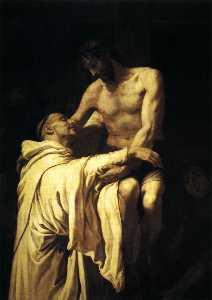 Christ Embracing St Bernard