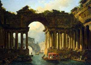 Architectural Landscape with a Canal