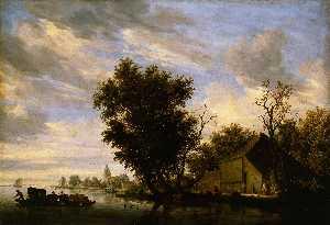Wikioo.org - The Encyclopedia of Fine Arts - Artist, Painter  Salomon Van Ruysdael