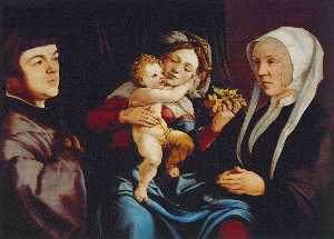 Madonna of the Daffodils with the Child and Donors