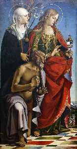 St Augustine Altarpiece (left wing)