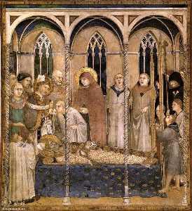 Burial of St Martin (scene 10)