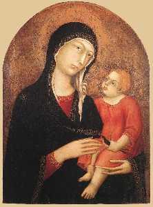 madonna col bambino ( da castiglione d'Orcia )