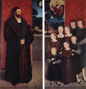 Portrait of Conrad Rehlinger and his Children