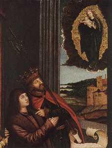 St Ladislas Presents Wladislav II and his Sons to the Virgin (detail)