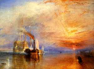 The 'Fighting Temeraire' tugged to her Last Berth to be broken up