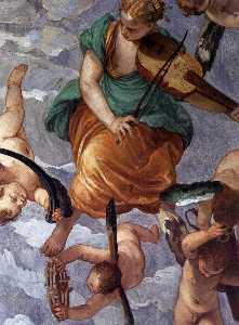 Baco , Vertumnus asícomo Saturno ( detalle )