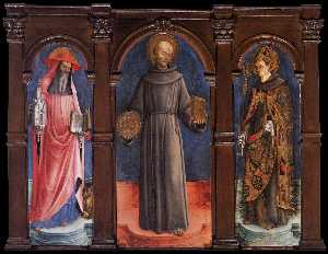 Sts Jerome, Bernardino of Siena, and Louis of Toulouse