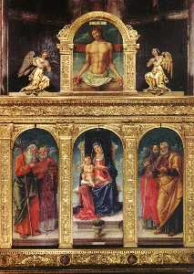 Virgin Enthroned with the Child on her Knee (polyptych)