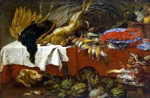 Still-Life with Dead Game and Lobster