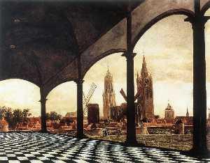 A View of Delft through an Imaginary Loggia