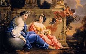 The Muses of Urania and Calliope